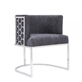Chamberlain Chair: Charcoal Fabric