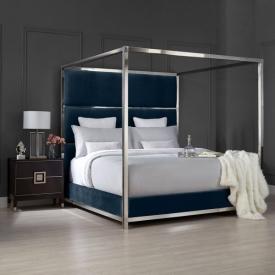 Pillar Bed – Blue Velvet