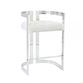 Majestic Ivory Fabric Counter Chair