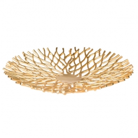 Twig Platter Gold