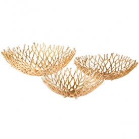 Twig Bowl Gold