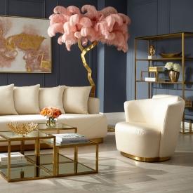 Ostrich Tree 87″ – Pink Gold