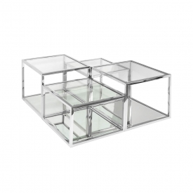 Multi-Level Silver Coffee Table