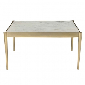 Elmer Square Coffee Table – Gold Steel Frame