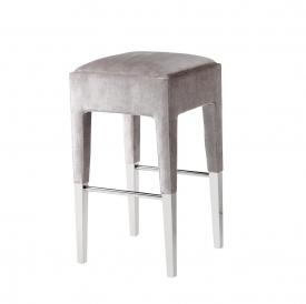 Peyton Counter Chair Grey Velvet