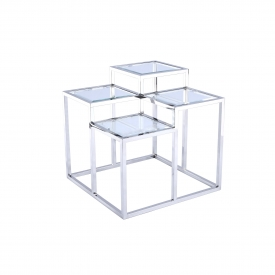 Elmore End Table Silver