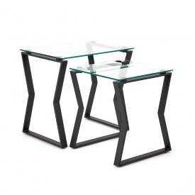 Noa Black Metal End Table