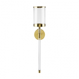 Acrylic Wall Sconce - Gold